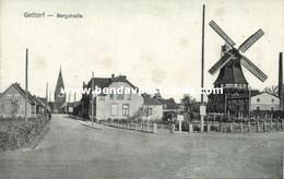 GETTORF, Bergstrasse Mit Mühle, Wind Mill (1910s) AK - Gettorf
