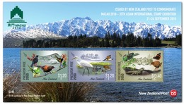 New Zealand 2018 MS MNH Macao 2018 Exhibition  Predator Free 2050 - Uilen