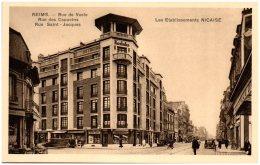 51 REIMS - Rue De Vesle - Rue Des Capucins - Rue Saint-Jacques - Les établissements Nicaise - Reims