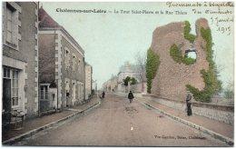 49 CHALONNES-sur-LOIRE - La Tour Saint-Pierre Et La Rue Thiers - Chalonnes Sur Loire