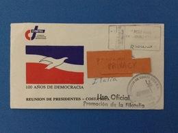 2002 BUSTA FILATELICA COSTA RICA SAN JOSE 100 ANOS DE DEMOCRACIA - Costa Rica