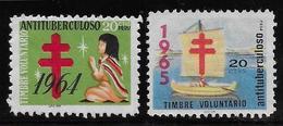 Pérou - 2 Vignettes Antituberculeux - Pérou