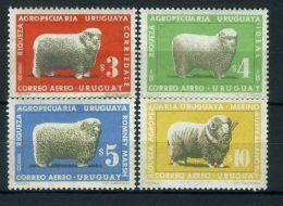 URUGUAY ( AERIEN ) : Y&T  N°  308/311  TIMBRES  NEUFS  SANS  TRACE  DE  CHARNIERE . - Uruguay