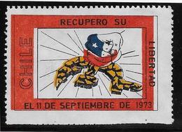 Chili - Vignette Libertad 11 Septembre 1973 - Chili