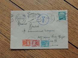 1954 - Lettre De Düsseldorf à Paris - Taxée 3 Timbres - FRANCO DE PORT - 1859-1955 Cartas