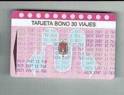 España Tarjeta De Autobus - Bonobus De Alicante - Old Bus Card Alicante - Season Ticket