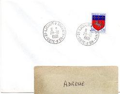 COTE D'OR - Dépt N° 21 = LACOUR D'ARCENAY 1968 = CACHET MANUEL A9 - Postmark Collection (Covers)