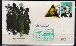 Cb5010 BRITAIN 1973, Commemorative Cover, David Livingstone,  Label & Info Insert, Signed By Vignette Designer - 1952-.... (Elizabeth II)
