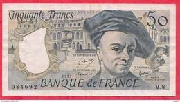 """50 Francs """"Quentin De La Tour"""" 1977 Série M.8---- F/TTB+ - 1962-1997 ''Francs''"""
