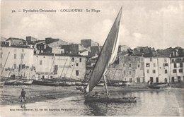 FR66 COLLIOURE - Brun 32 -  La Plage - Barques De Pêche - Animée - Belle - Fishing Boats