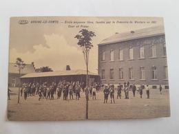 A 892 - Braine Le Comte école Moyenne Libre Cour Et Préau Fondée En 1861 - Braine-le-Comte