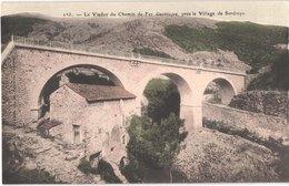 FR66 SERDINYA - Brun 263 - Colorisée - Le Viaduc De Chemin De Fer électrique Et Le Moulin - Belle - Frankreich