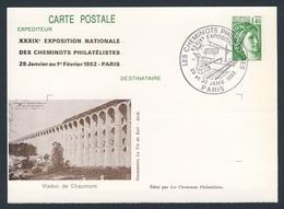 France Rep. Française 1982 Card / Karte / Carte Postale - Viaduc Du Chaumont / Viadukt - Treinen
