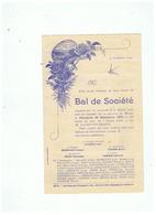 PROGRAMME BAL DE SOCIETE JEUNESSE De MAING (NORD)  Le DIMANCHE 26 SEPTEMBRE 1909 - Programmes