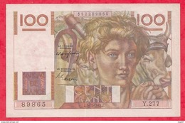 """100 Francs """"Jeune Paysan"""" Du 02/12/1948.J Série Y.277......AU/SPL----- (5 TROU D EPINGLE) - 1871-1952 Anciens Francs Circulés Au XXème"""