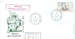 MARCOPHILIE - FREGATE LA FAYETTE Escale à BALI ANNULE Escale à ST PAUL - AMS. TAAF Le 11 - 4 - 1997 - Marcophilie (Lettres)