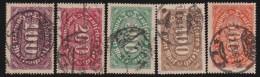 Deutsches Reich   .    Michel     .    219/223       .         O      .   Gebraucht - Gebraucht