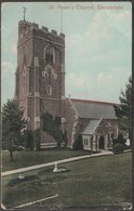 St Peter's Church, Revelstoke, Devon, 1917 - Valentine's Postcard - England