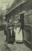 Aus Der Marsch, Alte Frauen In Tracht Rauchen Eine Pfeife (1912) AK - Germany