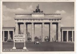 Berlin - Brandenburger Tor  - AK 7554 - Porte De Brandebourg