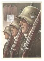 CPA 1940 IIIe Reich - Gottfried Klein Carte De Propagande Die Deutsche Wehrmacht Soldats Allemands Sous L'aigle Impérial - Briefe U. Dokumente
