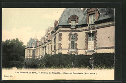 CPA Gambais, Château De Neuville, Douve Et Pont-Levis - France