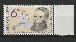 MiNr. 91 Tschechische Republik: 1995, 11. Okt. 150. Geburtstag Von Wilhelm Conrad Röntgen; - Unused Stamps