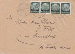 Lettre De Puttelange (T 325 Püttlingen Lothr A) TP Lothr 6pfx4=2°éch  Le 22/8/41 Pour Sarraltrof - Marcophilie (Lettres)