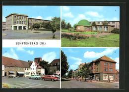 """AK Senftenberg, Planetarium, Platz Der Freundschaft & Bahnhofstrasse Mit HOG """"Stadtcafe"""" - Astronomie"""