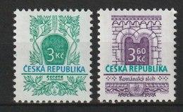 MiNr. 94 - 95 Tschechische Republik: 1995, 25. Okt. Freimarken: Baustile. - Unused Stamps