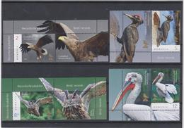 ROMANIA -2018 -  BIRDS ' Records - Eagle - Woodpecker - Owl - Pelican -set 4 Val With Labels -MNH** Rare - Vogels