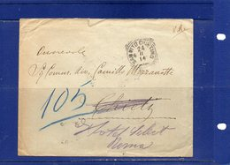 ##(DAN1810)-1914-  Busta Da San Vito Chietino (Chieti),annullo Tondo Riquadrato, Per Chieti, Reindirizzata A Roma - Poststempel