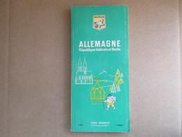 """Guide Du Pneu Michelin """"Allemagne, République Fédérale Et Berlin"""" /  1ere éditions De 1966 - Michelin (guides)"""