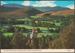 The Dee Valley And Lochnagar From Crathie, Aberdeenshire, C.1970s - Charles Skilton Postcard - Aberdeenshire