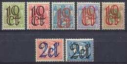 Nederland NVPH Nr 114/120 Ongebruikt (MLH, Neuf Avec Charniere) - Periode 1891-1948 (Wilhelmina)