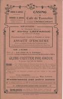 TONNEINS CASINO DU CAFE CINEMA CONCERT A BRIGNOL PROGRAMME ANNEE 1920 SUR LA SCENE BERTHY LAFFARGUE COMIQUE MAX LINDER - Zonder Classificatie