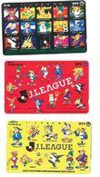 Japon Lot 3 Télécartes Japan Professional Football Ligue NTT 1993 1994 1995 - Sport