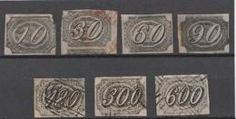 BRESIL 1844 - Yvert N° 4 à 10 - Série Complète 7 Valeurs - Oblitérés - Brazil