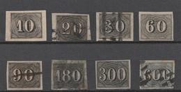 BRESIL 1850 - Yvert N° 11 à 18 - Série Complète 8 Valeurs - Oblitérés - Brazil