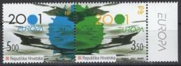 Croatie. Europa 2001. TP N° Y&T 537/38 **, MNH. Cote Y&T : 3 € - Europa-CEPT