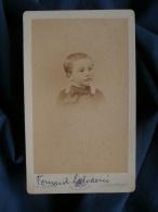 Photo CDV Joliot à Paris - Petit Garçon (Fernand Laborderie) Circa 1880-85 L397B - Photographs