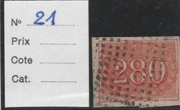 BRESIL 1854 - Yvert N° 21 - Oblitéré (280 R) - Brazil