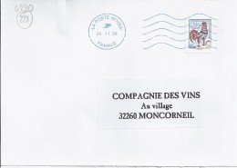 TP N° 4290 SUR LETTRE DE 2008/09 - 1962-65 Cock Of Decaris