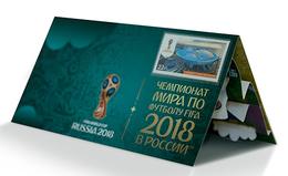 Russia,  Football 2018, Stadium St.Peterburg, Stamp +3 D Special Pack - Wereldkampioenschap