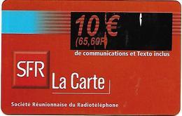 @+ Recharge SFR De La Réunion - Surcharge 10€ Sur Bleu. Date Limite : 12/02. Ref : PU14 - Reunion