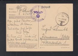 Dt. Reich Feldpost PK 1942 47648 - Deutschland