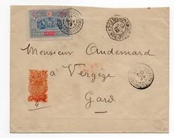 !!! PRIX FIXE : COTE FRANCAISE DES SOMALIS, LETTRE DE DJIBOUTI DE 1902 POUR LE GARD - Lettres & Documents