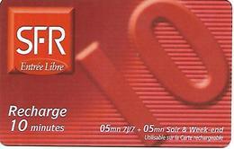 @+ Recharge SFR De La Réunion - 10€. Date Limite : 12/02 - Zero Barré. Ref : PU3 - Reunion