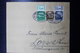 Elsass Alsace : Frankfurt - Basel Bahnpost Z.983 21-6-1941  Mi 2 W OR 3 W OR  RR - Besetzungen 1938-45