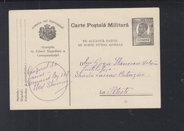 Romania Military PC Self Censor Cmd. Rg. 287 Stanescu - World War 1 Letters